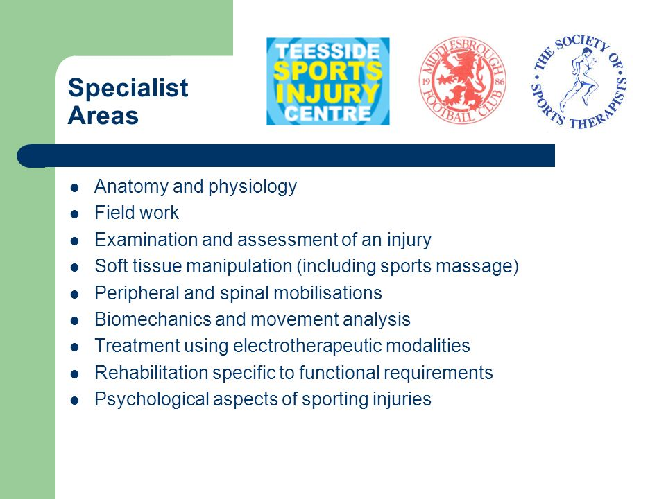 Specialist Areas Anatomy and physiology Field work
