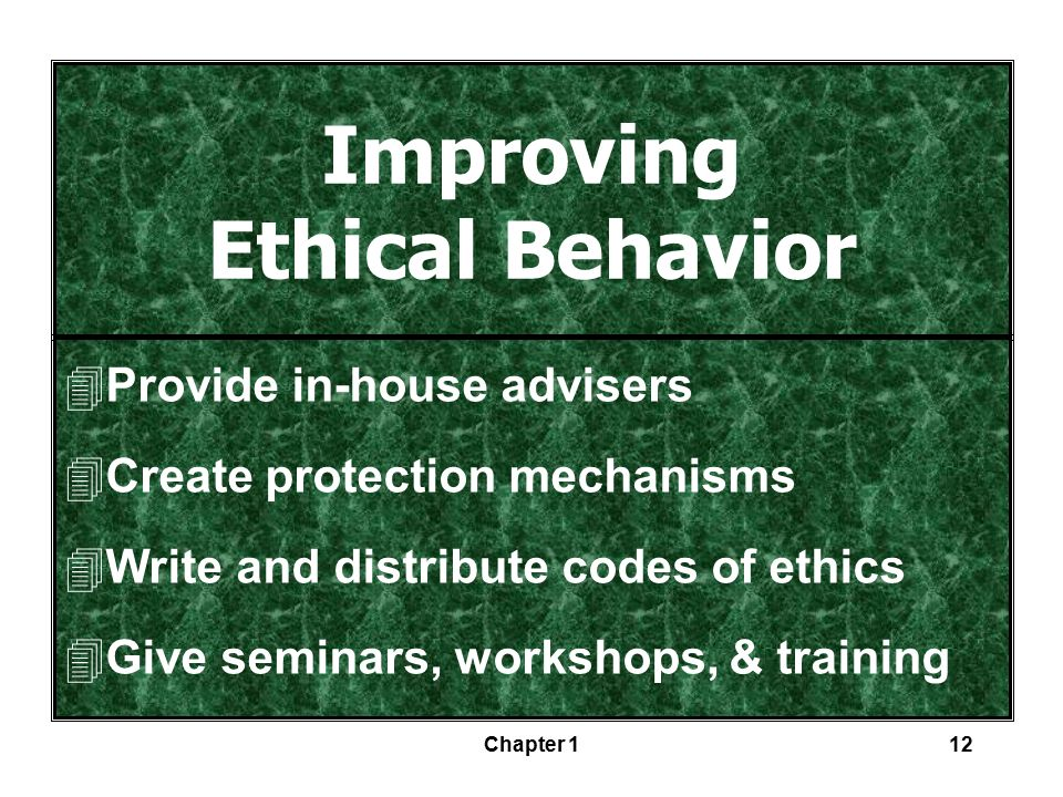 improving ethical behavior On the positive side, the overwhelming majority of executives and managers consider the internal and external dealings at their organizations to be ethical, with more than two-thirds saying they .