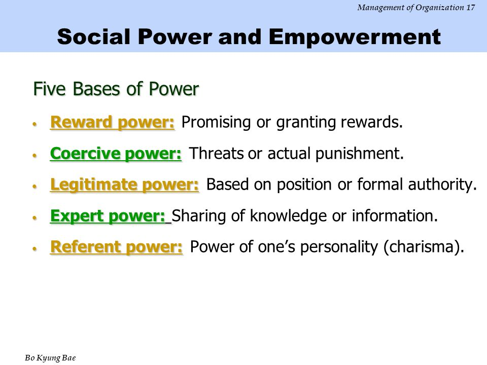 5 bases of power