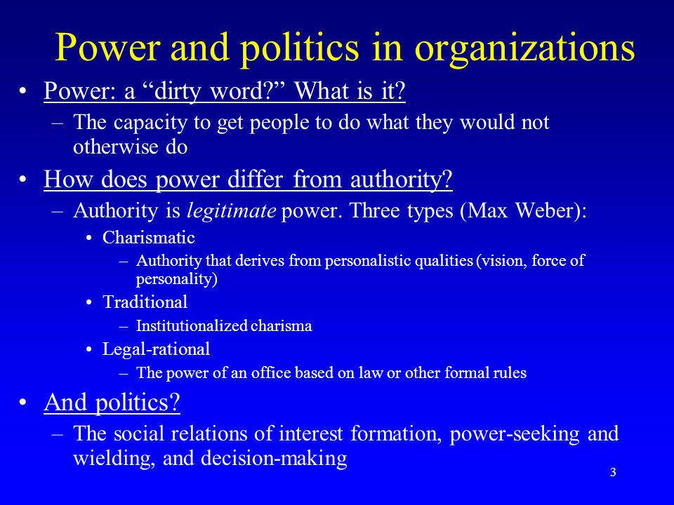 power and politics in organisation essay