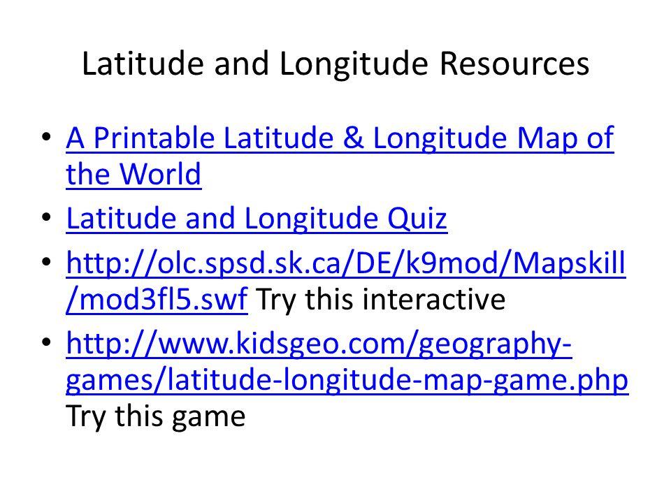 Latitude and Longitude - ppt download