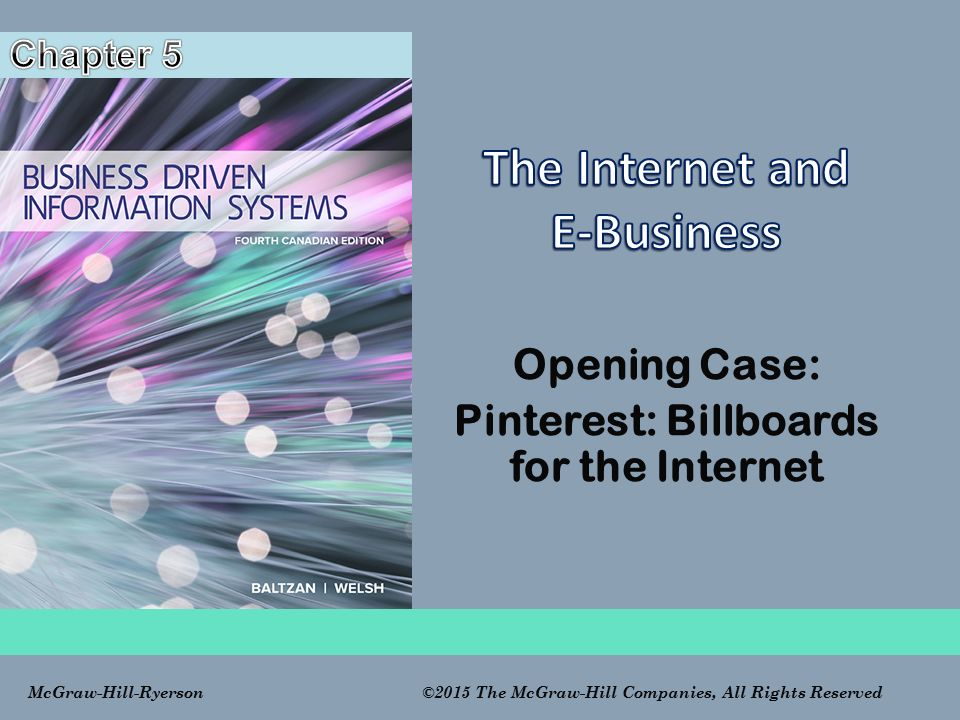 The Internet and E-Business