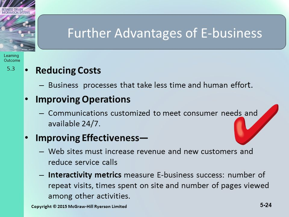 Further Advantages of E-business