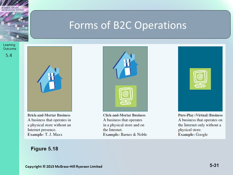 Forms of B2C Operations 5.4 Figure 5.18