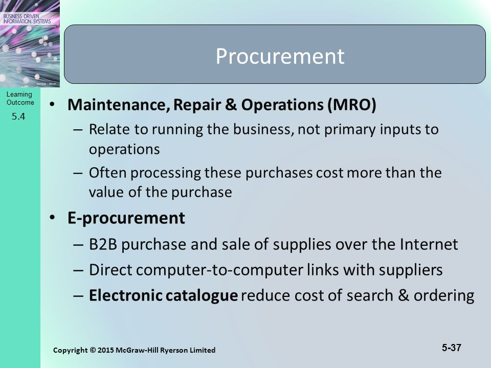Procurement E-procurement Maintenance, Repair & Operations (MRO)
