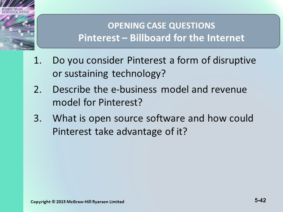 OPENING CASE QUESTIONS Pinterest – Billboard for the Internet