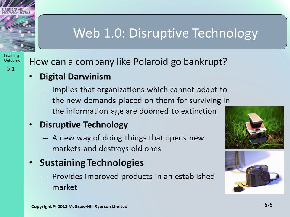 Web 1.0: Disruptive Technology