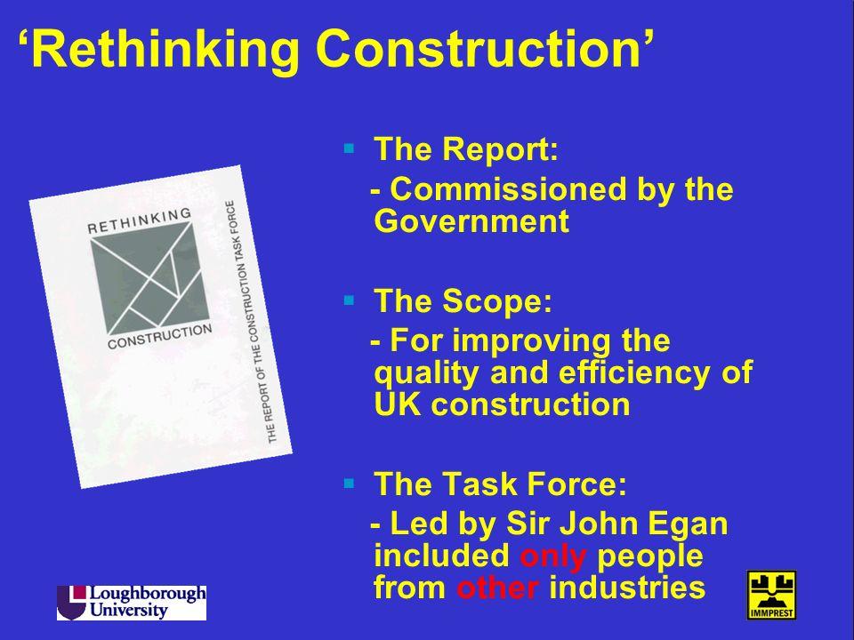 'Rethinking Construction'
