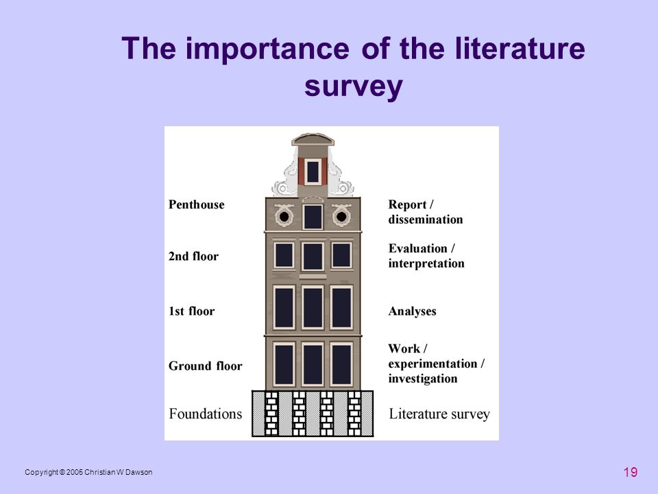 The importance of the literature survey