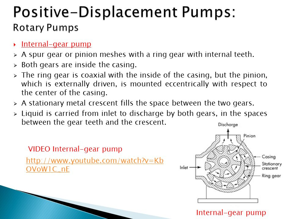 Positive-Displacement Pumps: Rotary Pumps