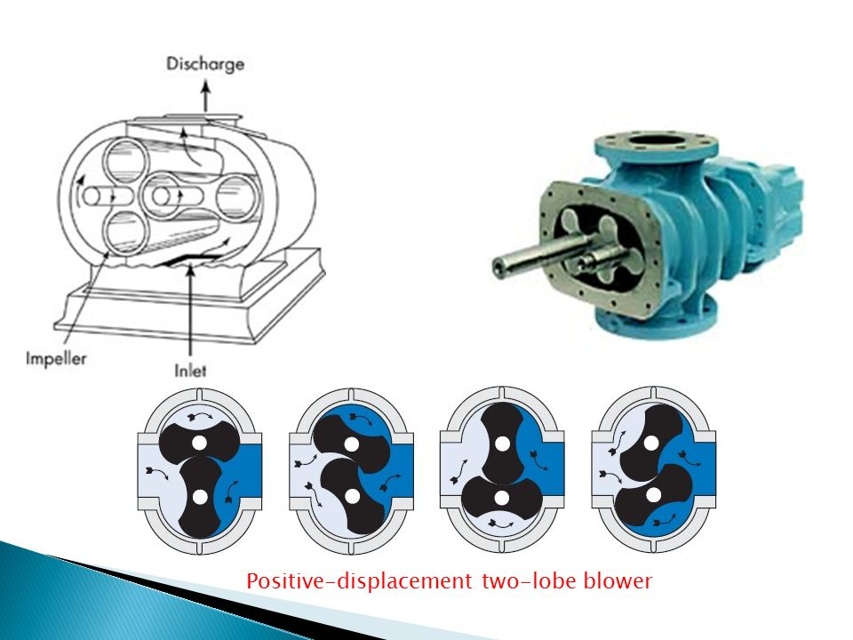 Blowers Positive-displacement two-lobe blower