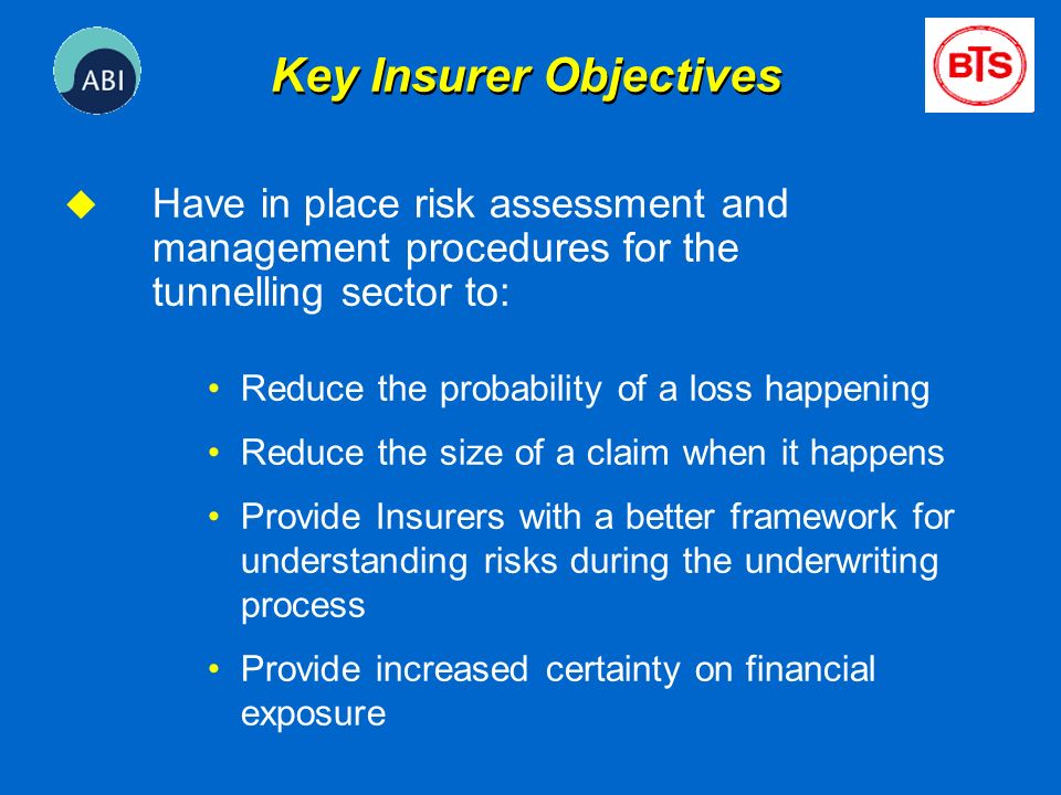 Key Insurer Objectives