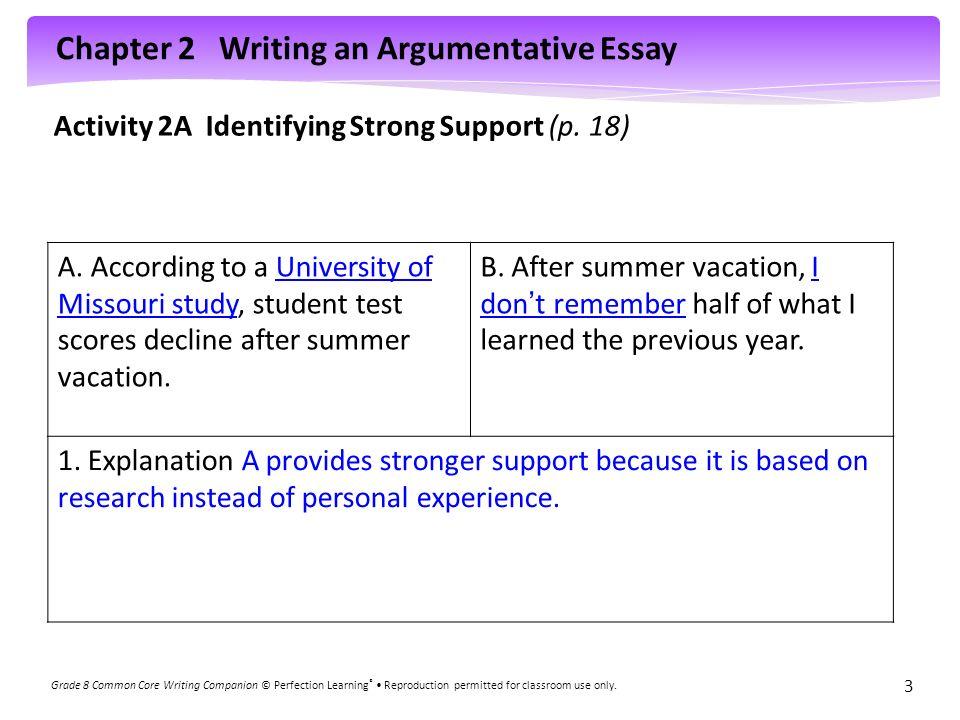 activities argumentative thesis