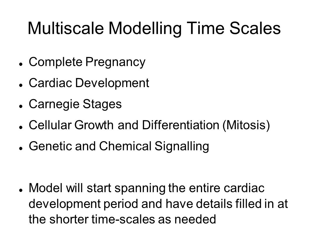 Multiscale Modelling Time Scales