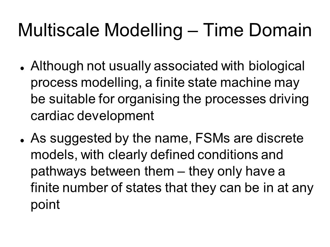 Multiscale Modelling – Time Domain