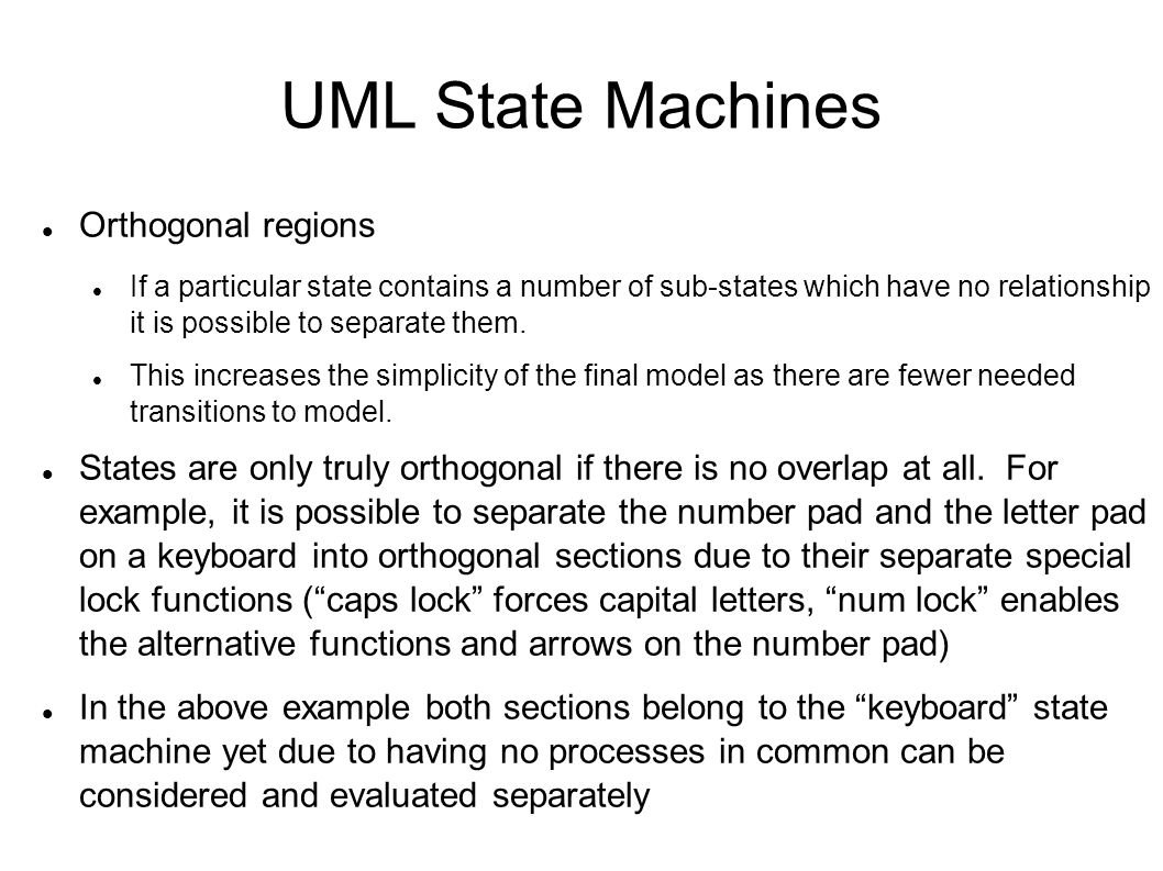 UML State Machines Orthogonal regions