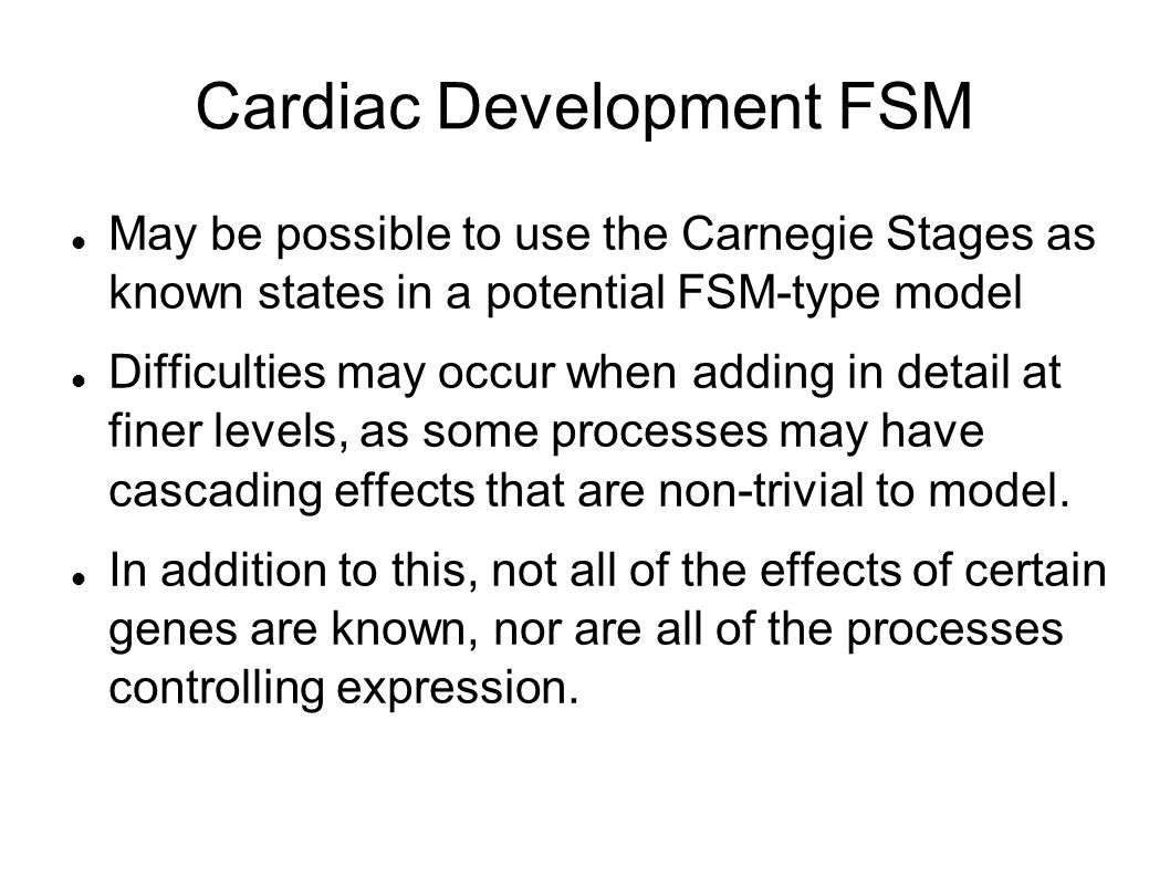 Cardiac Development FSM