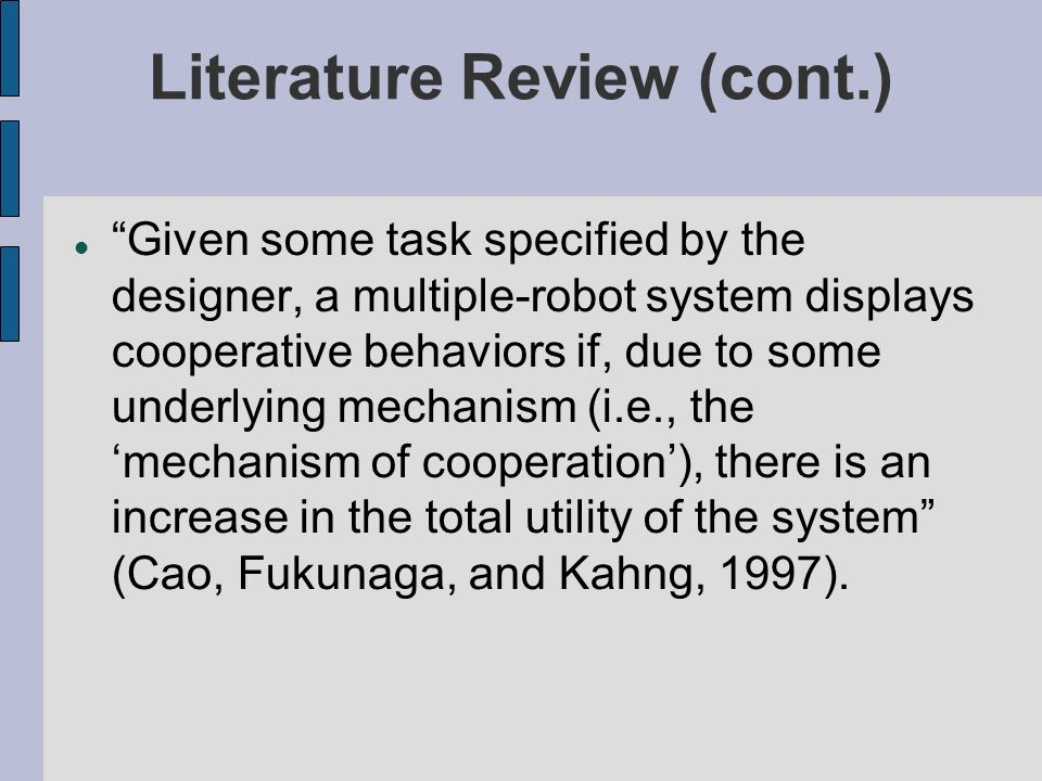Literature Review (cont.)‏