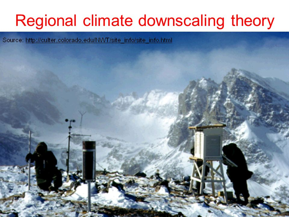 Regional climate downscaling theory