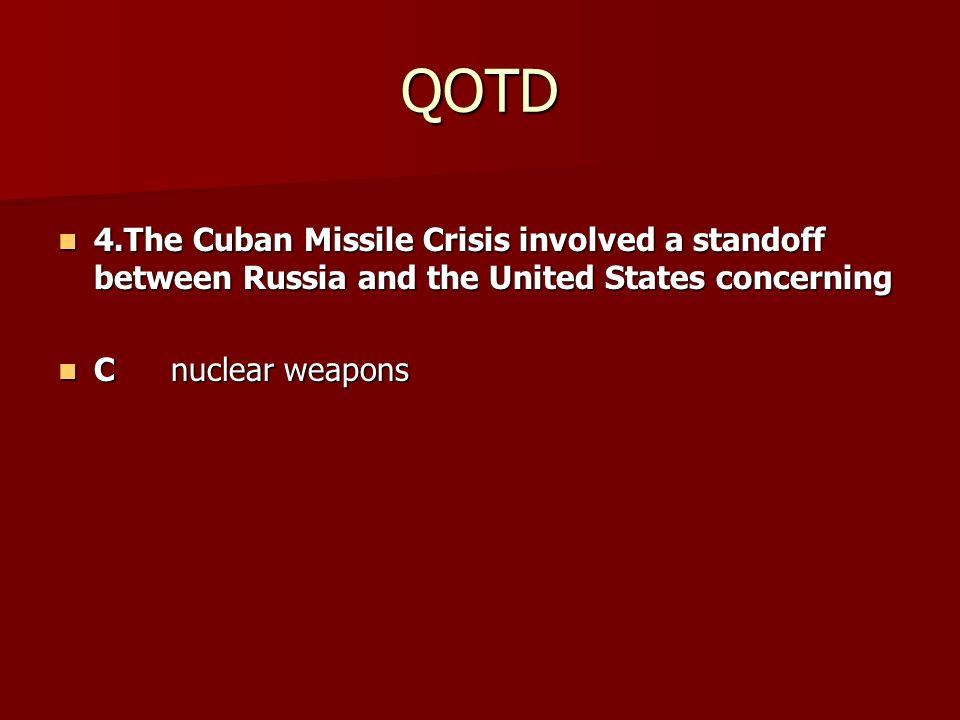 an analysis of the cuban missile crisis in united states Analysis of the cuban missile crisis in cuba and the constant reconnaissance missions from the united states had cuban he will have the missile bases.