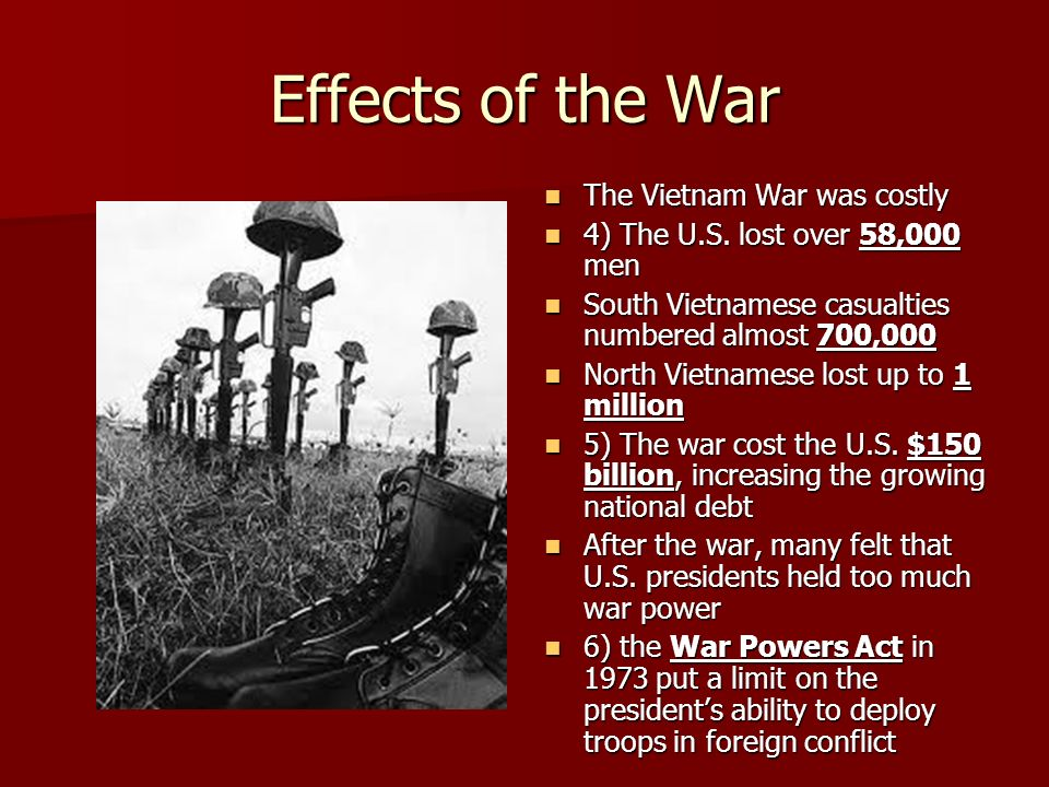 What was the impact of the Vietnam War?