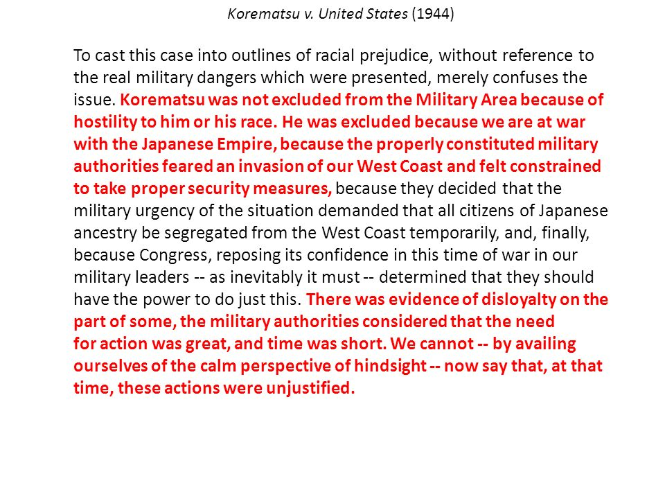 korematsu v the united states 1944