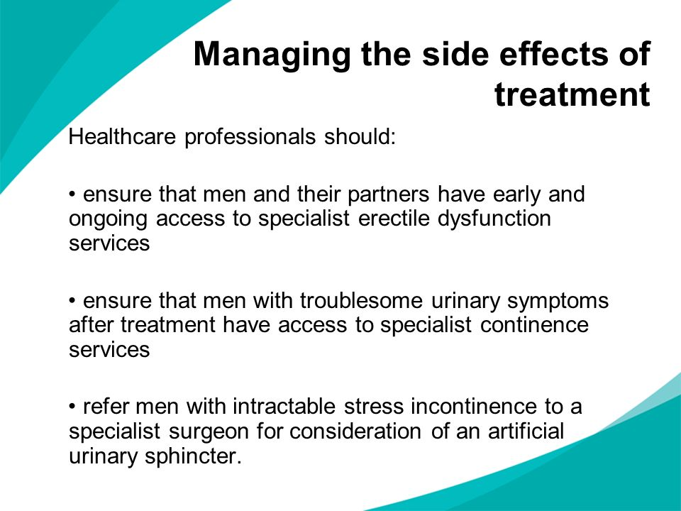 Managing the side effects of treatment