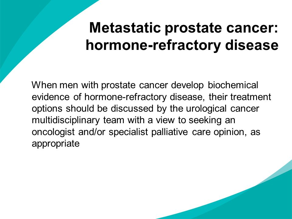 Metastatic prostate cancer: hormone-refractory disease
