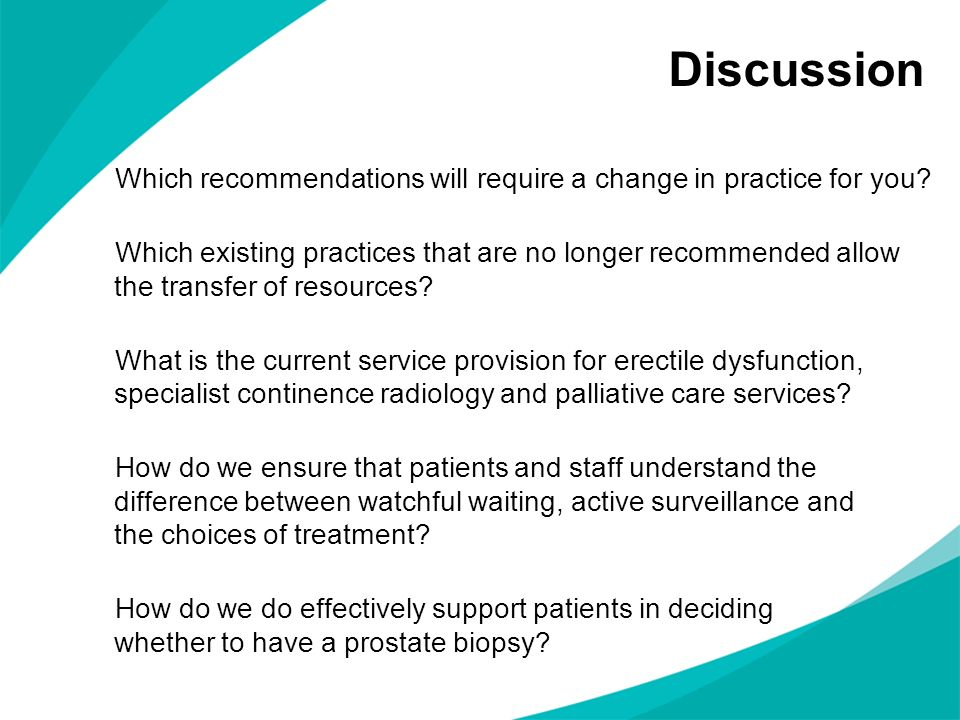 Discussion Which recommendations will require a change in practice for you