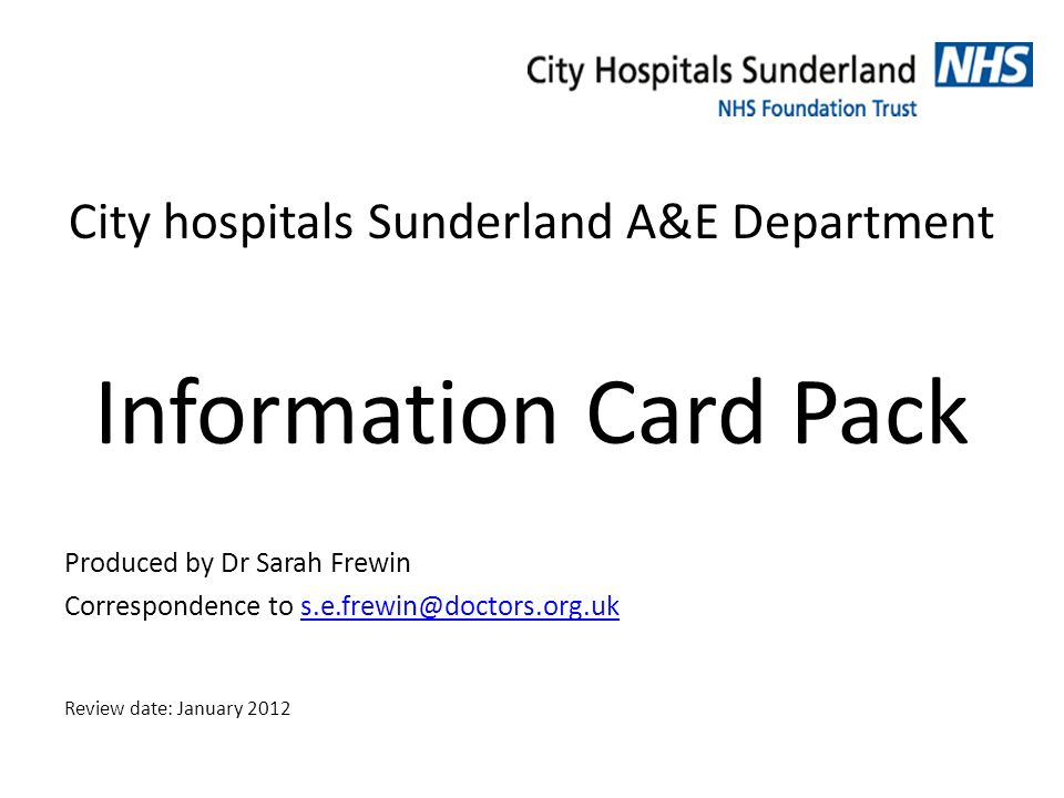 City hospitals Sunderland A&E Department