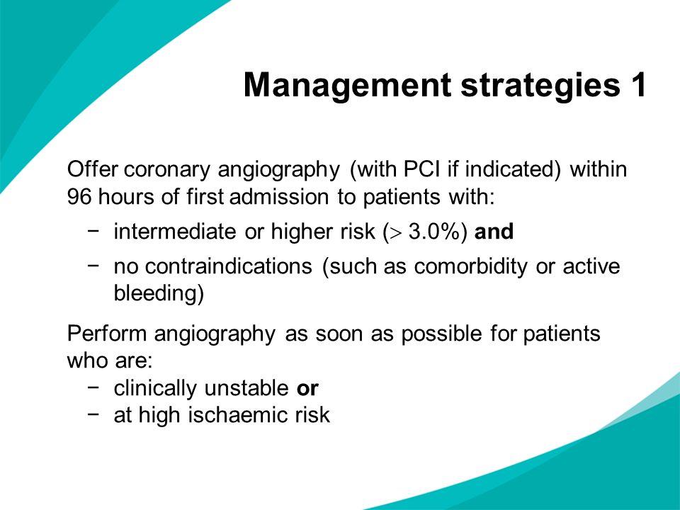 Management strategies 1
