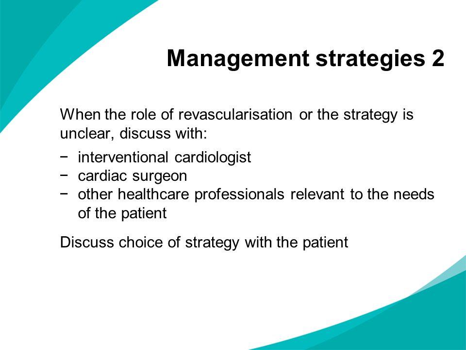 Management strategies 2