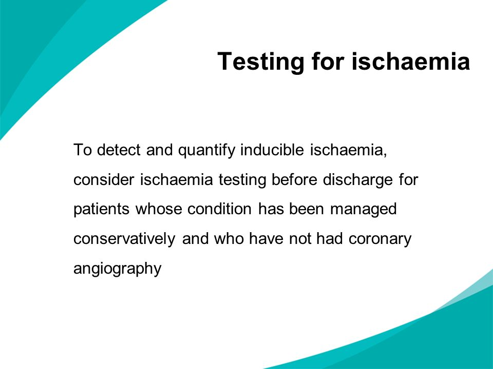 Testing for ischaemia