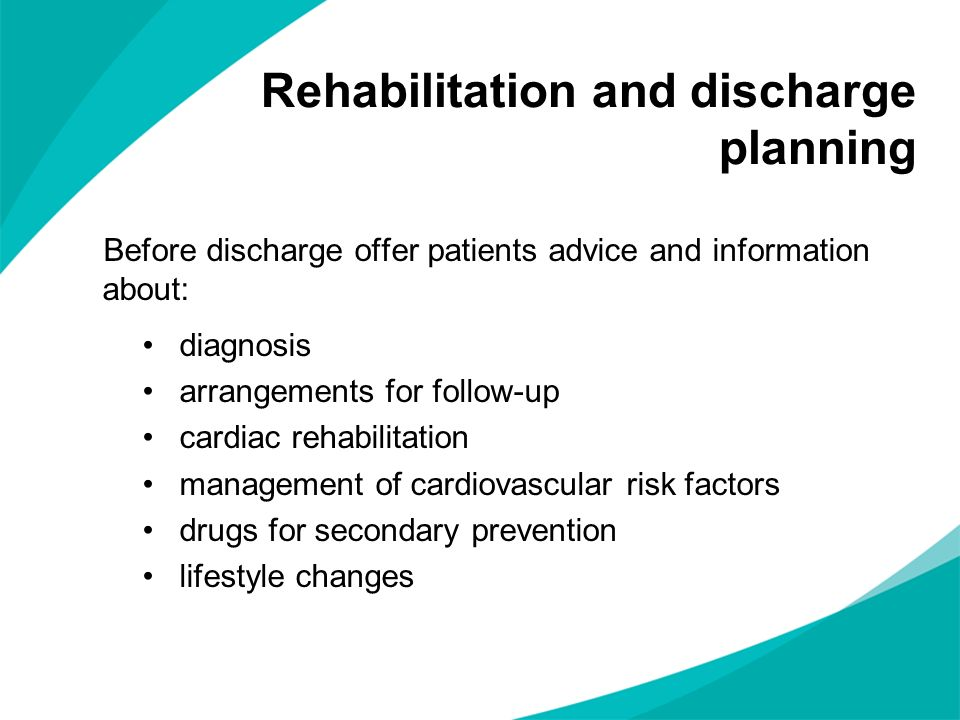 Rehabilitation and discharge planning
