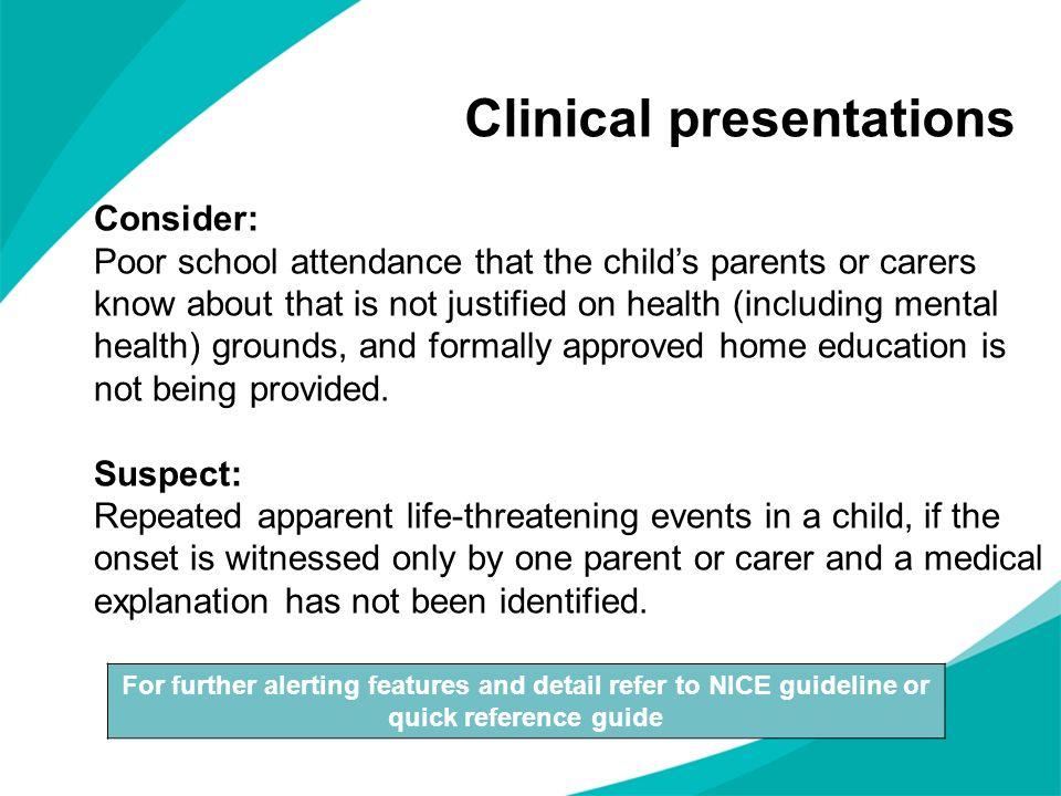 Clinical presentations