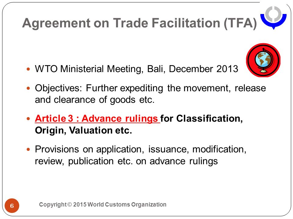 Wco knowledge academy brussels 18 june ppt video online download 6 agreement on trade facilitation platinumwayz