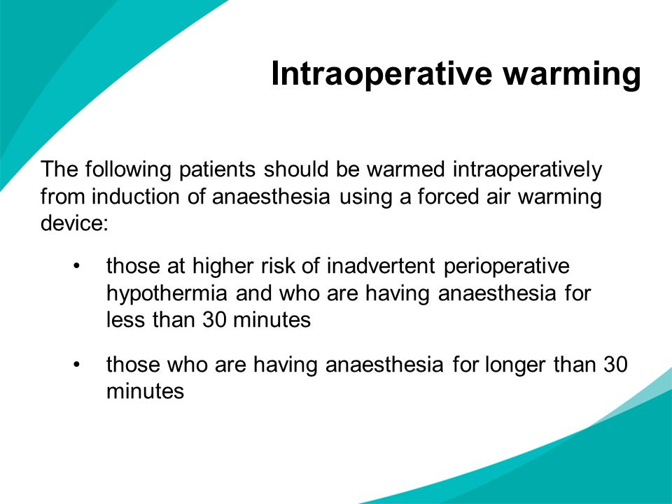 Intraoperative warming