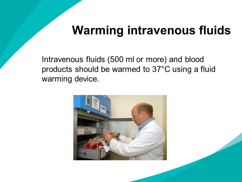 Warming intravenous fluids