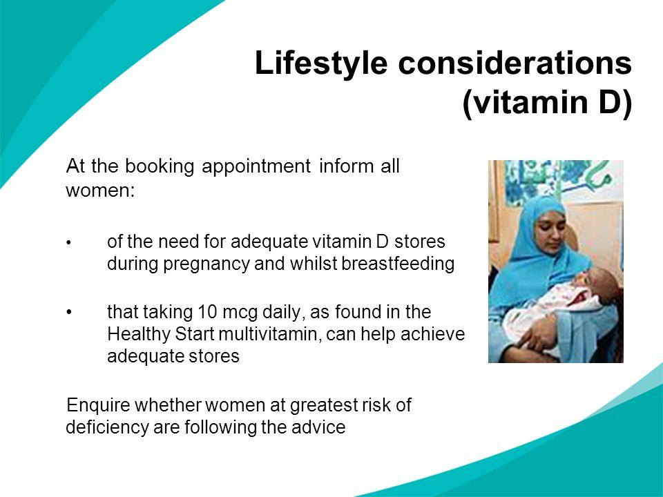 Lifestyle considerations (vitamin D)