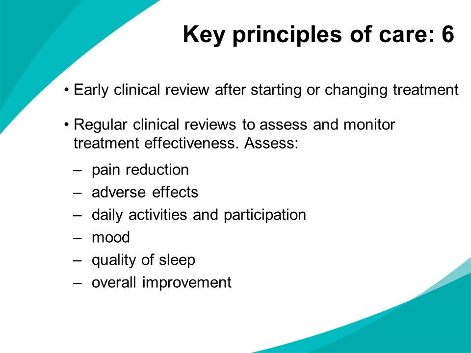 Key principles of care: 6