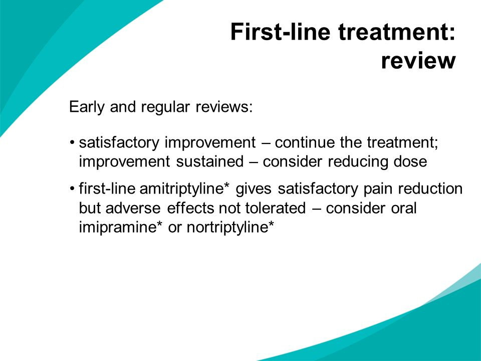 First-line treatment: review