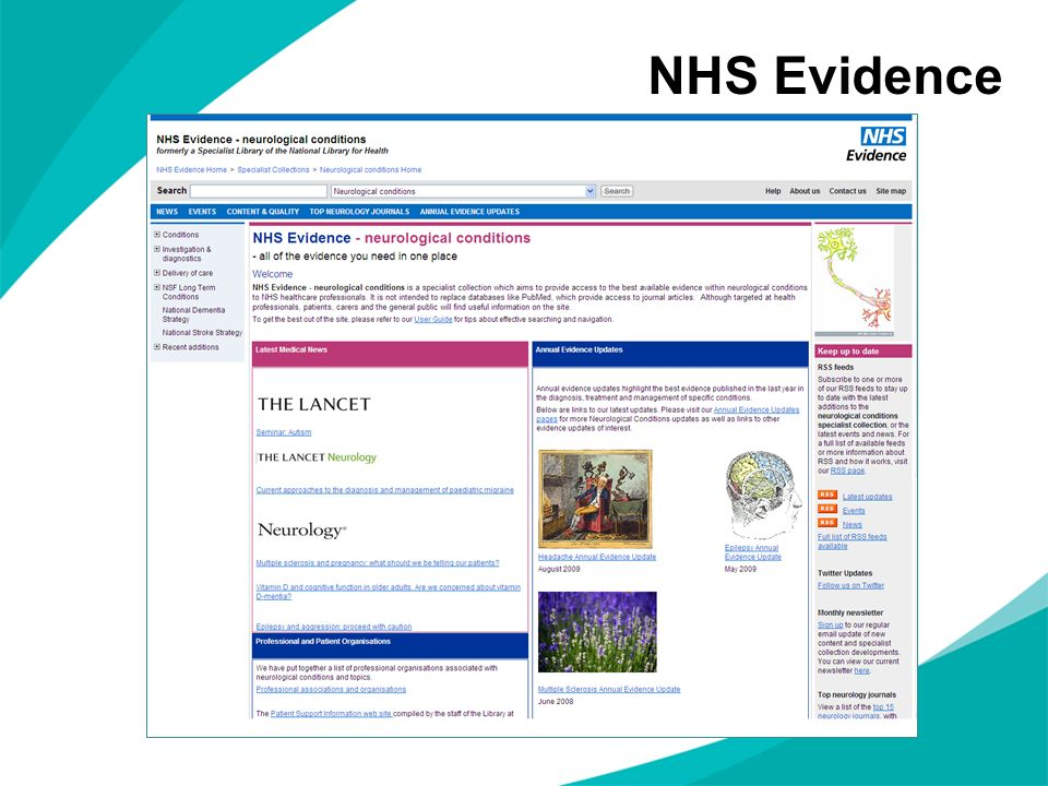 NHS Evidence NOTES FOR PRESENTERS: