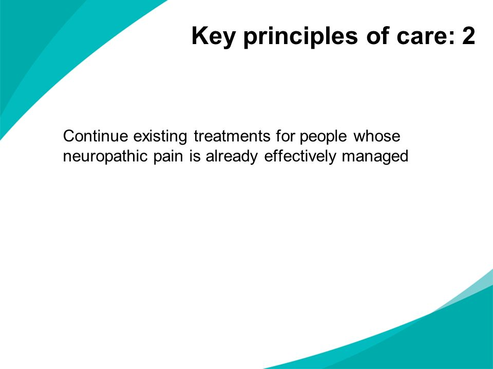 Key principles of care: 2
