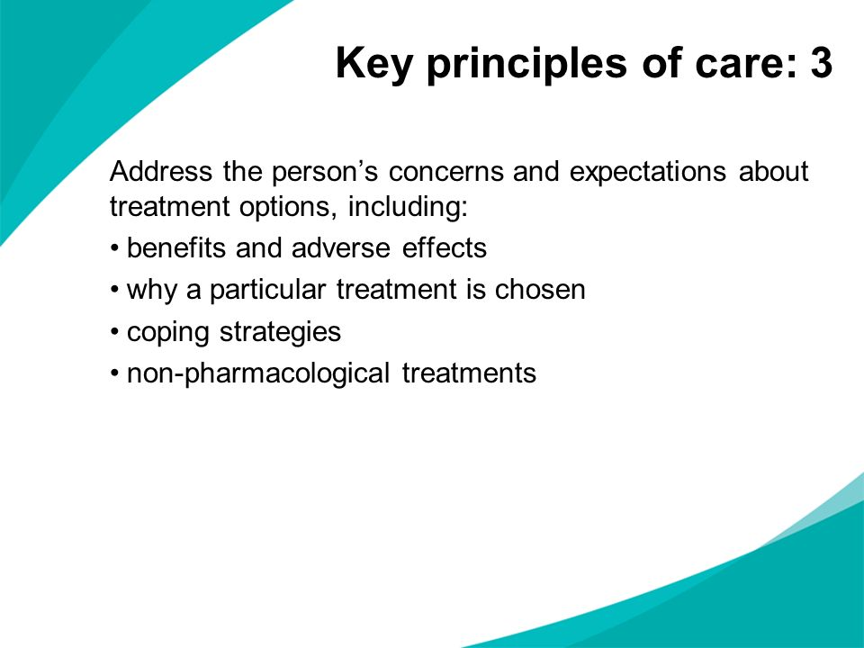 Key principles of care: 3