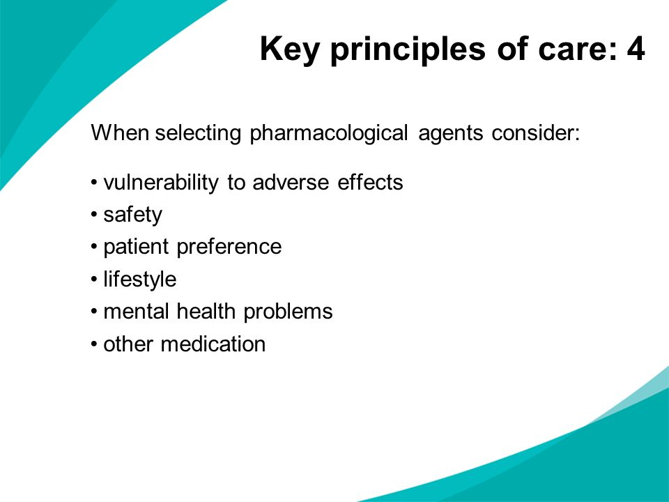 Key principles of care: 4