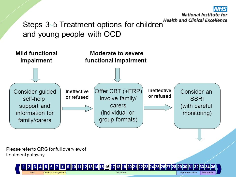 Steps 3~5 Treatment options for children and young people with OCD