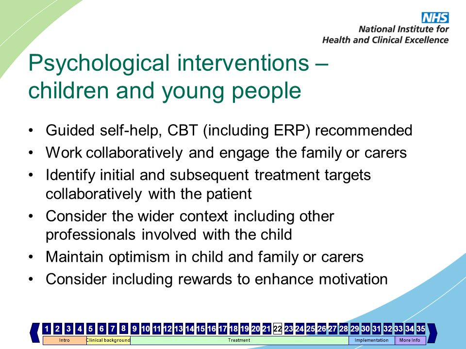Psychological interventions – children and young people