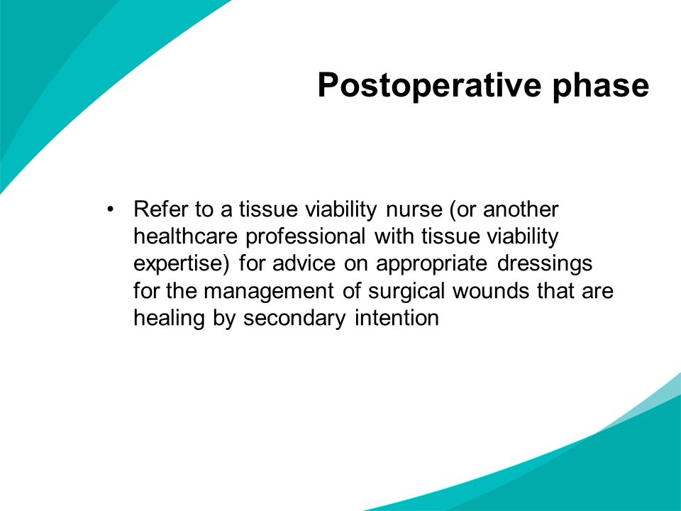 Postoperative phase