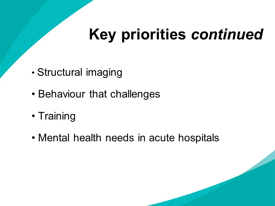 Key priorities continued