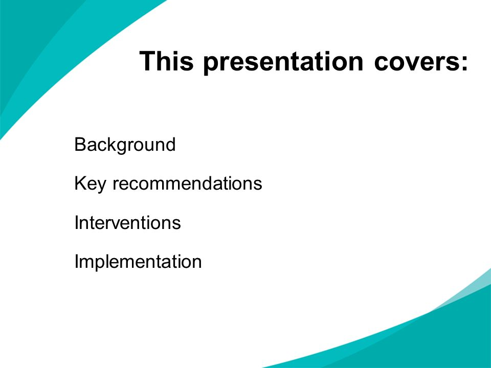This presentation covers: